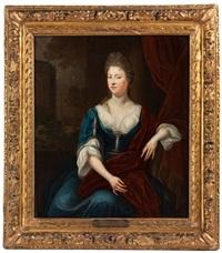 portrait einer jungen, adeligen dame by constantyn netscher