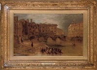 old baal's bridge, limerick by william henry bartlett