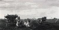 kartoffelernte im voralpenland by ludwig cornelius-muller