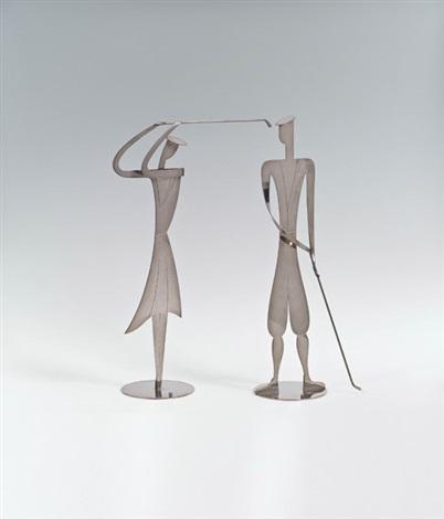 golfspielerin und golfspieler (set of 2) by franz hagenauer
