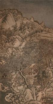 雪霁访友图 by zhou shunchang
