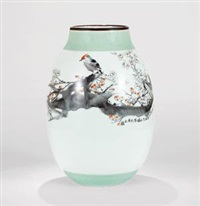 粉彩「寒香」瓷瓶 (vase with plum blossom pattern) by dai yumei