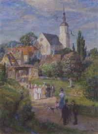 sonntagsspaziergang zur maienzeit by wilhelm georg ritter