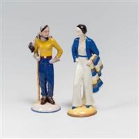 zwei frauenfiguren (2 works) by gmundner keramik