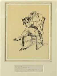 with his head in his lap by arthur rackham