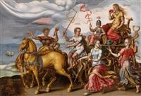allegorie der abundantia (+ allegorie der invidia; pair) by maerten jacobsz van heemskerck