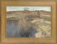autumn breeze (+ silver birch, 1973; 2 works) by leonid ignatevich vaishlya