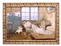 maternidad en un interior by serafín avendaño