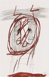 ciseaux dans le cercle by antoni tàpies