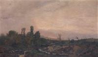 paesaggio al tramonto by pietro senno