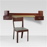 desk (+ chair; 2 works) by jean prouvé and jules leleu
