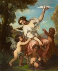 allegorie des frühlings by jean marius fouque