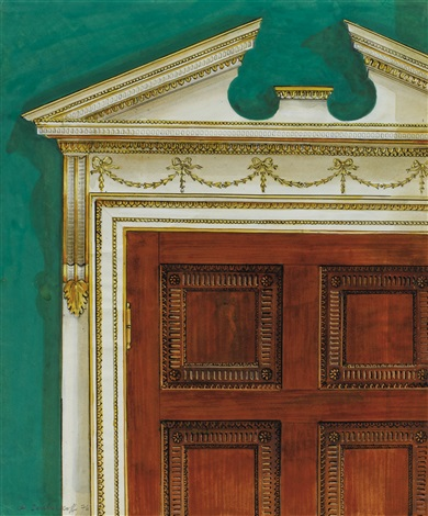 Lencadrement De La Porte Du Cabinet De Travail Rue De Varenne By