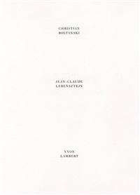 une rêverie émanée de mes loisirs (bk w/19 works) by christian boltanski