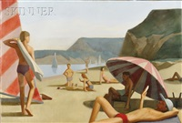 bathers on the beach by patrick webb