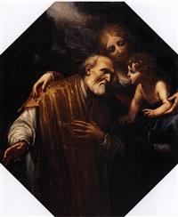 madonna col bambino e san filippo neri (+ san pietro in carcere liberato dall'angelo; pair) by giovanni bilivert