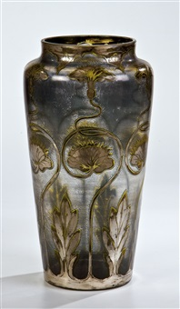 vase mit seerosen by carl goldberg