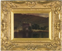 carrick castle on the shore of lock goil, scotland by william young