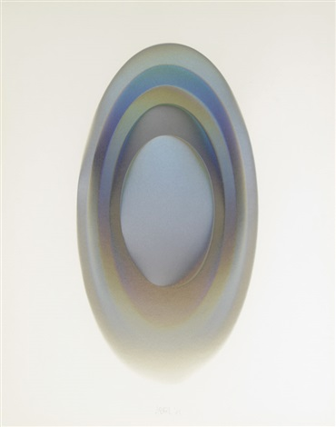 mel 15 an iridescent oval by larry bell