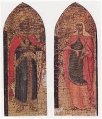 san costantino imperatore (+ sant'elena madre di costantino; 2 works) by paolo veneziano