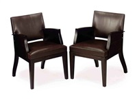 armchairs (pair) by christian liagre
