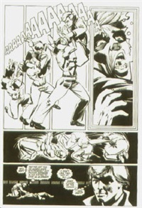 sans titre, planche 16 (from daredevil episode 184) by frank miller