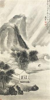 rainy landscape by huang shen