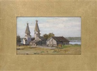 the village church (+ 5 others; 6 works) by leonid petrovitch baikov