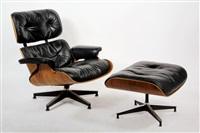lounge chair and ottoman (from eames design) (set of 2 works) by herman miller