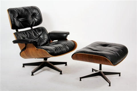 Lounge Chair And Ottoman (from Eames Design) (set Of 2 Works) By