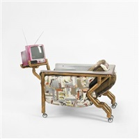 bathtub chair with television by joel otterson