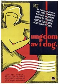 miriam hopkins a.o. in ungdom av i dag (poster) by gosta aberg