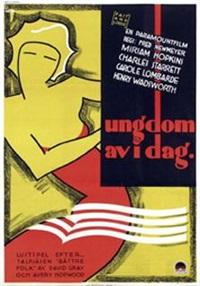 miriam hopkins a.o. in ungdom av i dag (poster) by gosta aberg