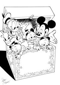mickey, donald, riri, fifi & loulou by dan jippes