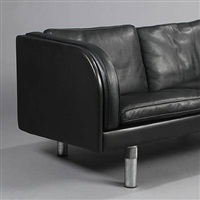 free-standing two-seater sofa (model ej 20-2) by jörgen gammelgaard