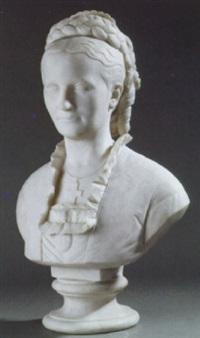 kvinde med opsat hår by edvard harald bentzen