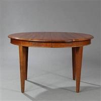circular dining table with extension by kaj gottlob