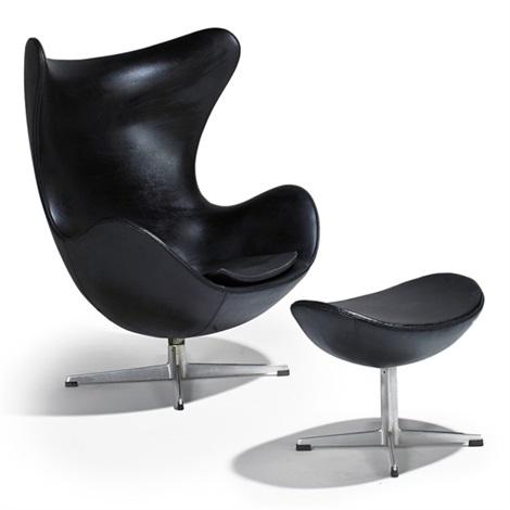 Egg Chair And Ottoman By Arne Jacobsen On Artnet