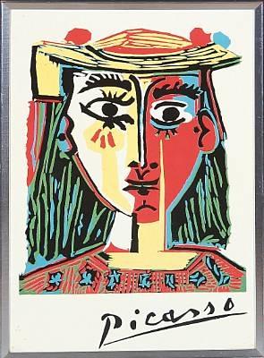 Buste de femme au chapeau by Pablo Picasso on artnet