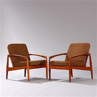 easy chairs (model 121) (pair) by kai kristiansen