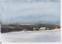 vinterlandskap med hus by lars lerin