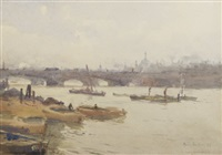 barges on the thames by rose maynard barton