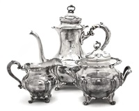 tea service (3 pieces) by meriden brittania (co.)