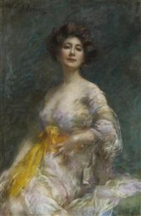porträt einer jungen dame by franz wobring