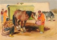 cavalli a riposo by basso ragni