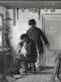 interior fra et sademagervaerksted by valdemar holger v. rasmussen magaard