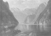 der königsee an einem frühlingsmorgen by carl le feubure