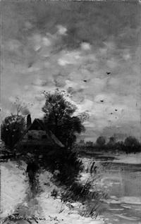 schneelandschaft by heinz flockenhaus