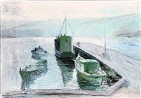 ships at the faroe islands by joannis kristiansen