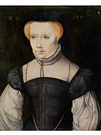 damenportrait by hans holbein the younger